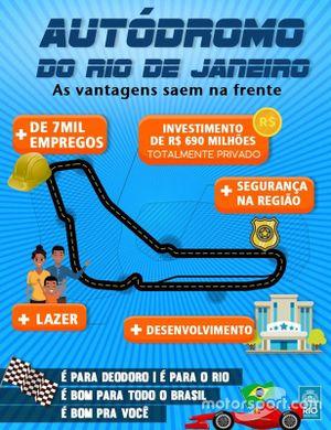 Реклама автодрома в Рио де Жанейро