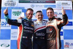 Il vincitore, Christian Merli, sul podio