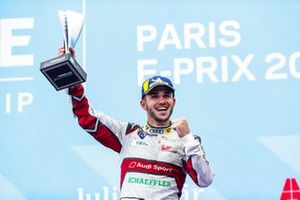Daniel Abt, Audi Sport ABT Schaeffler, 3rd position, celebrates on the podium