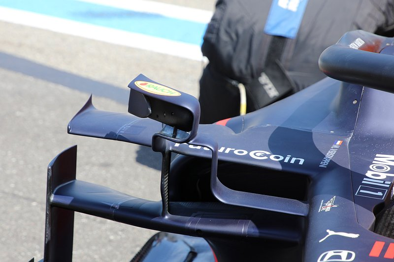 Sidepod do carro de Max Verstappen