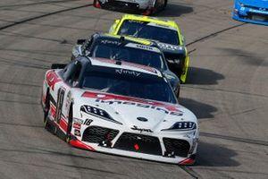Harrison Burton, Joe Gibbs Racing, Toyota Supra Dex Imaging and Zane Smith, JR Motorsports, Chevrolet Camaro LaPaz Margarita Mix