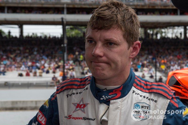 Ben Hanley, DragonSpeed Chevrolet, fuori dalla gara
