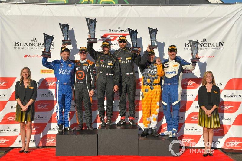 #91, Audi R8 LMS GT4, Jeff Burton, #36 McLaren 570S GT4 Jarett Andretti and Karl Thomson, #04 Audi R8 LMS GT4 CJ Moses and James Sofronas