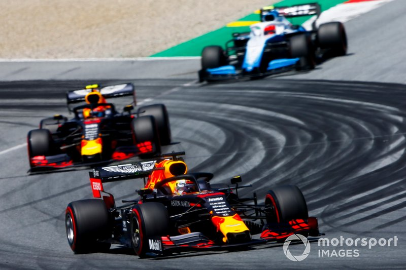 Max Verstappen, Red Bull Racing RB15, Pierre Gasly, Red Bull Racing RB15 y Robert Kubica, Williams FW42