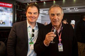 James Allen, President, Motorsport Network and Giorgio Piola, Technical Artist