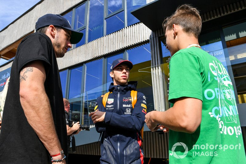 Pierre Gasly, Red Bull Racing and Thomas Maubant