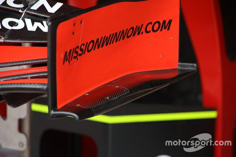 Detalle técnico de Ferrari