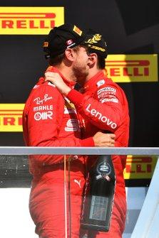 Sebastian Vettel, Ferrari, and Charles Leclerc, Ferrari