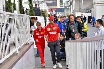 Sebastian Vettel, Ferrari in the paddock