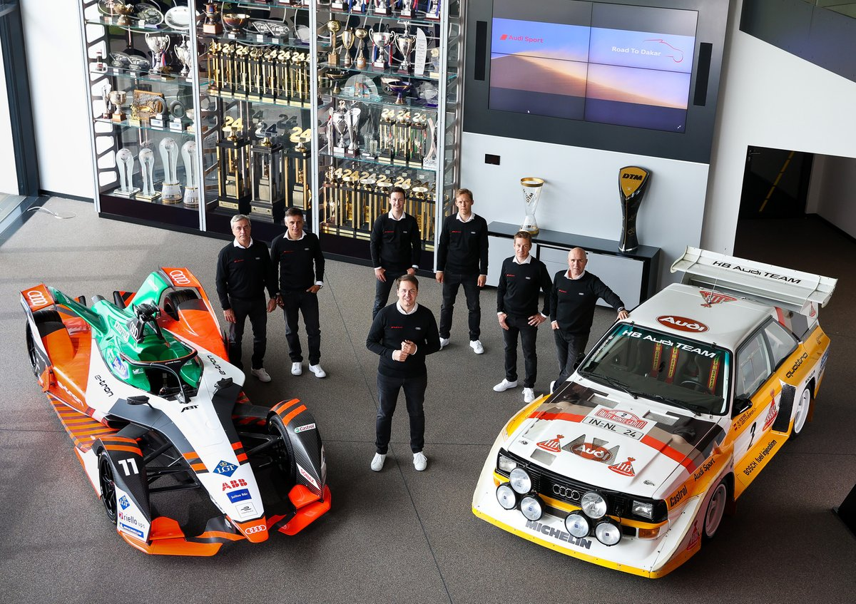 Carlos Sainz, Lucas Cruz, Emil Bergkvist, Mattias Ekström, Édouard Boulanger, Stéphane Peterhansel, Julius Seebach, Audi Sport