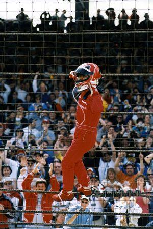 Le vainqueur Helio Castroneves, Team Penske