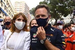 Geri and Christian Horner, Team Principal, Red Bull Racing