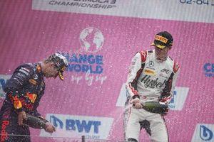 1st Position, Frederik Vesti, ART Grand Prix, 2nd Position, Dennis Hauger, Prema Racing