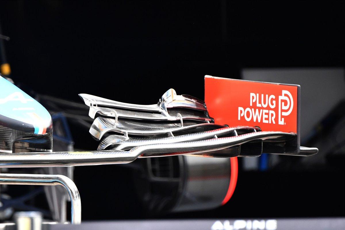 Detalle de la aleta delantera del Alpine A521