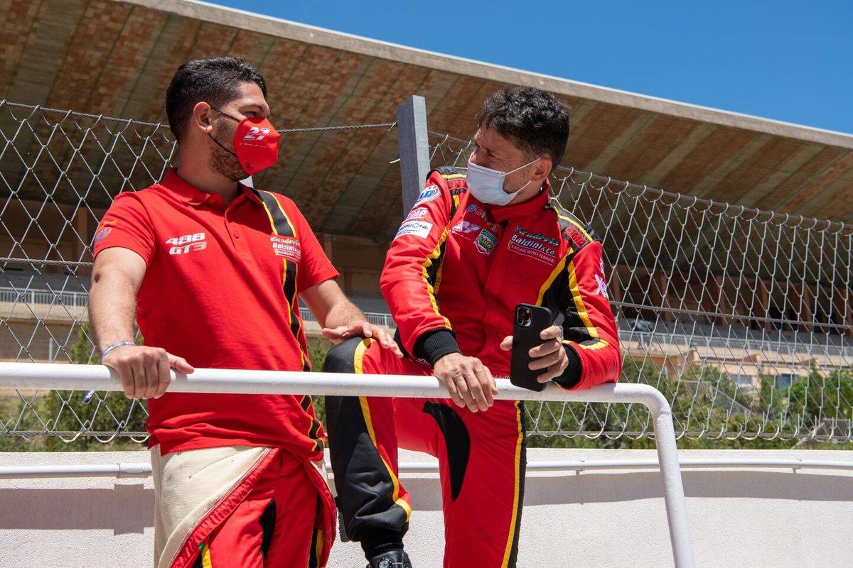 #27 Scuderia Baldini, Ferrari 488 GT3 Evo: Giancarlo Fisichella, Stefano Gai
