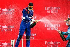 Race Winner Alexander Smolyar, ART Grand Prix celebrates on the podium with the champagne