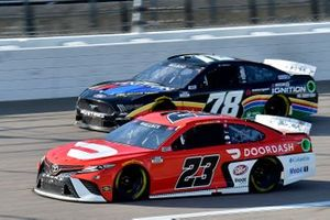 Bubba Wallace, 23XI Racing, Toyota Camry Door Dash and B.J. McLeod, Live Fast Motorsports, Ford Mustang NASCAR 21 Ignition