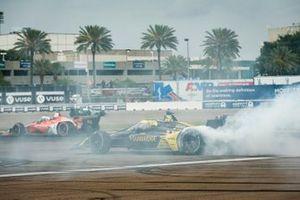 Colton Herta, Andretti Autosport Honda celebrates winning the Firestone Grand Prix of St. Petersburg
