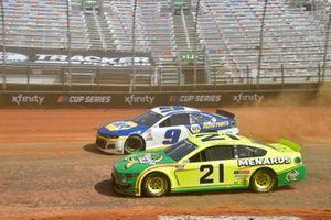 Matt DiBenedetto, Wood Brothers Racing, Ford Mustang Menards/Quaker State, Chase Elliott, Hendrick Motorsports, Chevrolet Camaro NAPA Auto Parts