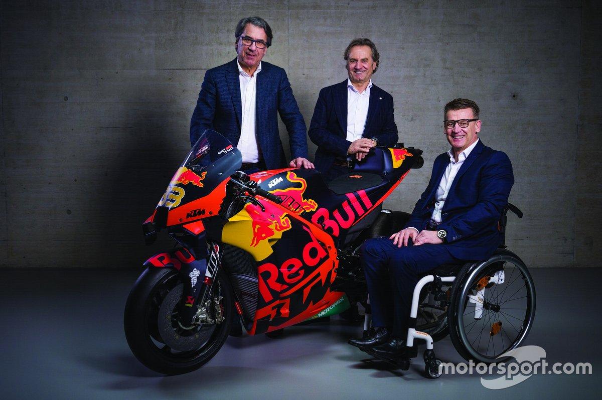 Stefan Pierer, Hubert Trunkenpolz, Pit Beirer, Red Bull KTM Factory Racing