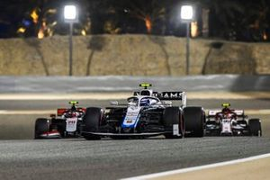 Nicholas Latifi, Williams FW43, Antonio Giovinazzi, Alfa Romeo Racing C39, and Kevin Magnussen, Haas VF-20