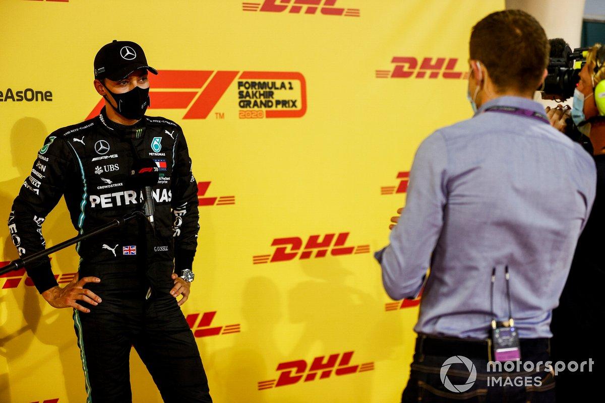El segundo lugar fue para George Russell, Mercedes-AMG F1