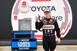 Race winner John Hunter Nemechek, Kyle Busch Motorsports, Toyota Tundra Safeway