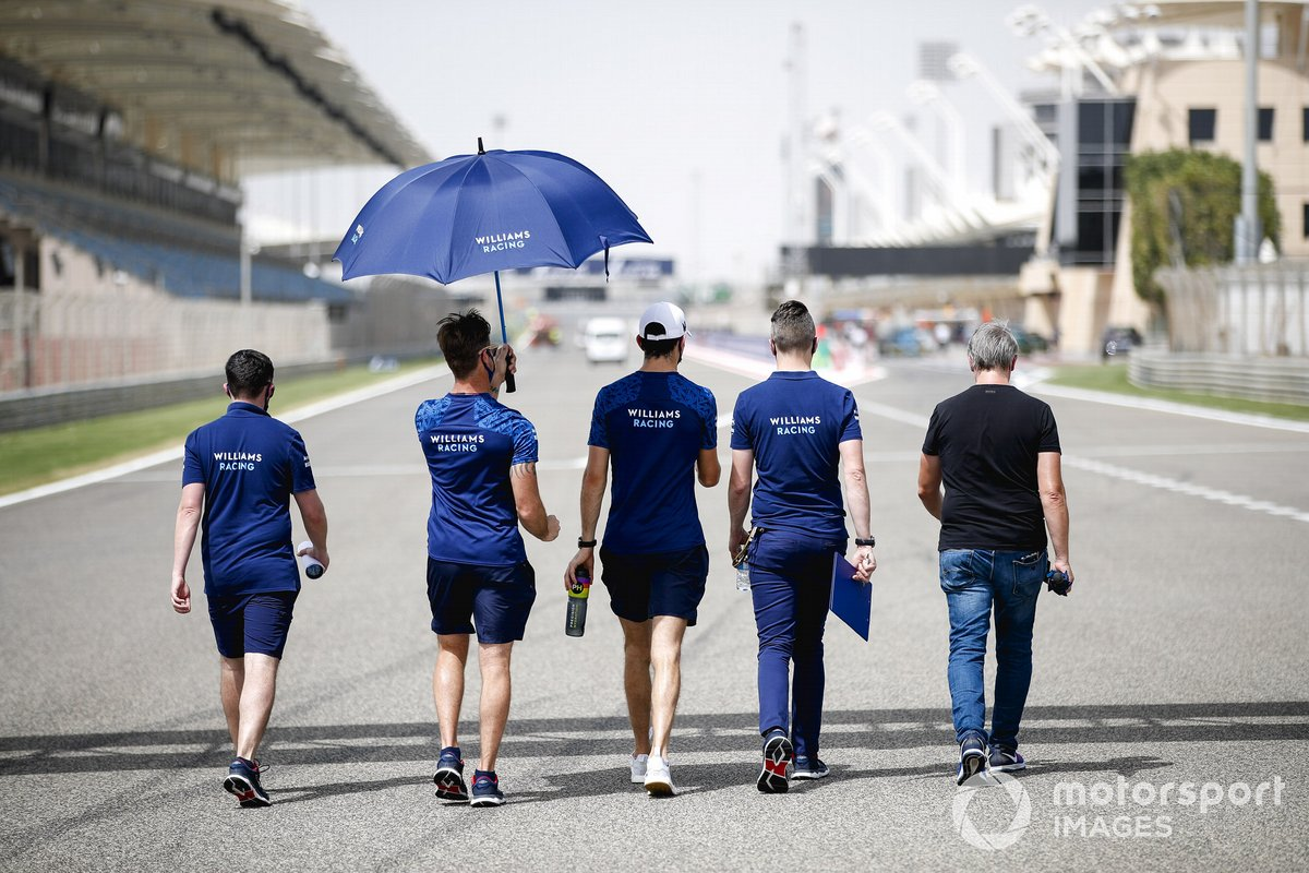 Nicholas Latifi, Williams, pasea por la pista