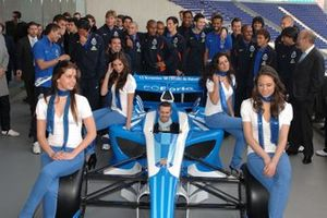 Ex F1-driver and SEAT World Touring Car Championship star Tiago Monteiro aboard the FC Porto Superleague Formula car