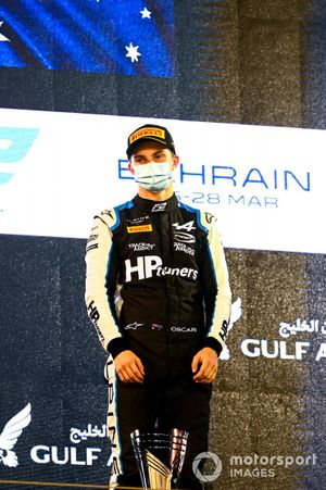 Oscar Piastri, Prema Racing, 1st position, on the podium