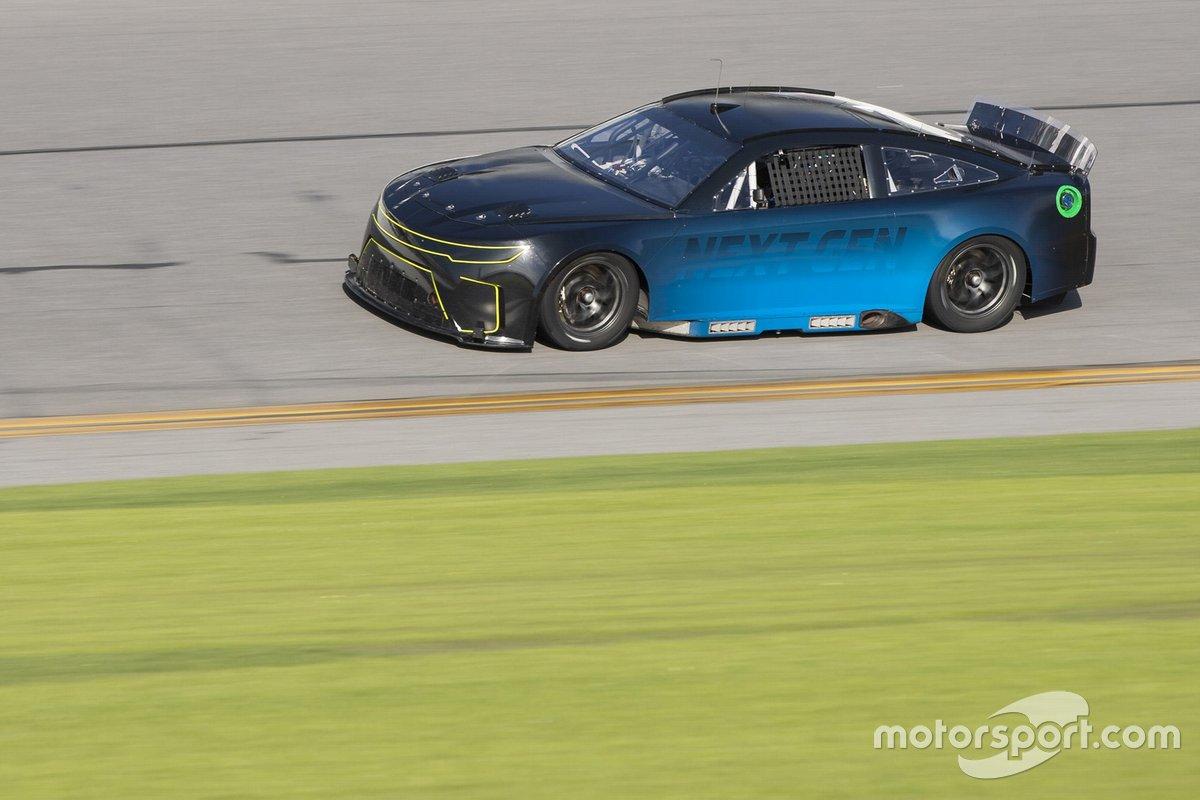 Chris Buescher drives the NASCAR Next gen car