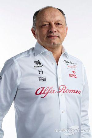 Frédéric Vasseur, jefe del equipo Alfa Romeo Raciing