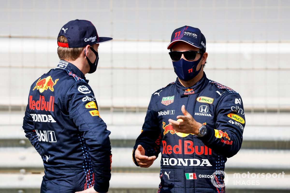 Sergio Pérez, Red Bull Racing y Max Verstappen, Red Bull Racing