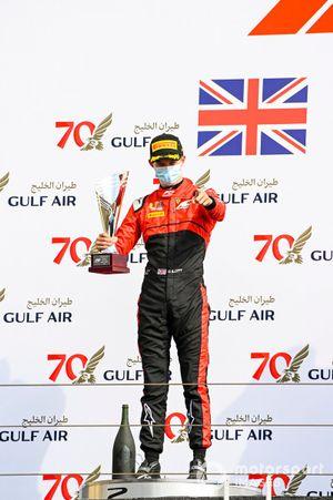 Callum Ilott, UNI-Virtuosi celebrates on the podium with the trophy