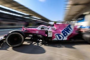 Lance Stroll, Racing Point RP20, leaves the garage
