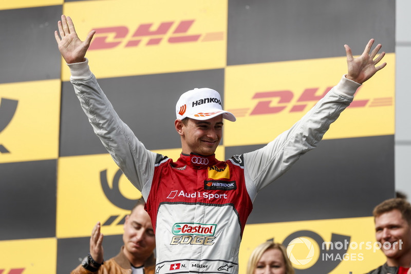 Podium: Second place Nico Müller, Audi Sport Team Abt Sportsline