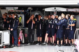 Racing Point Force India F1 Team viert tweede startrij