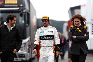 Fernando Alonso, McLaren, in the paddock