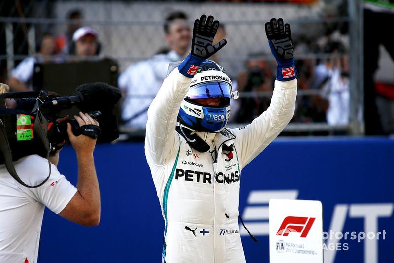 Pole sitter Valtteri Bottas, Mercedes AMG F1 W09