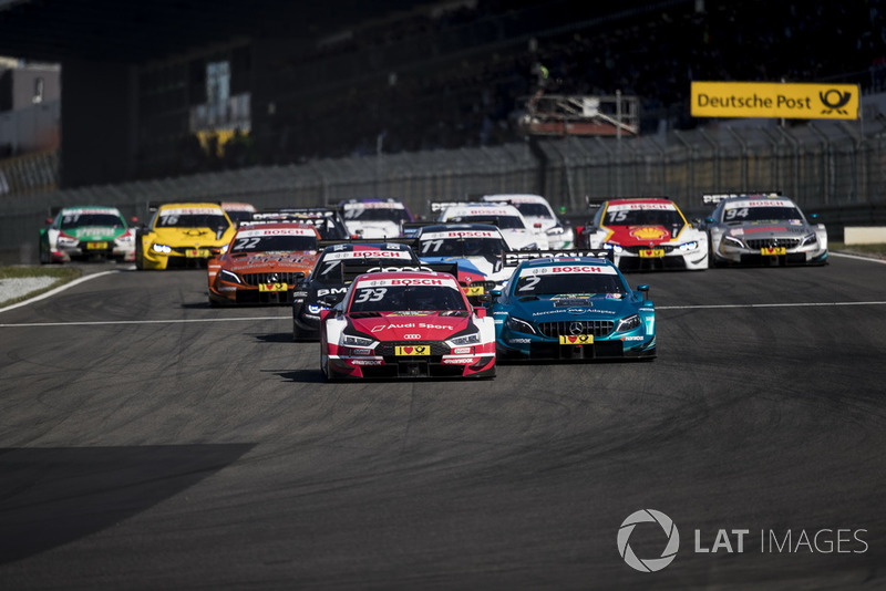 René Rast, Audi Sport Team Rosberg, Audi RS 5 DTM leads at the start of the race