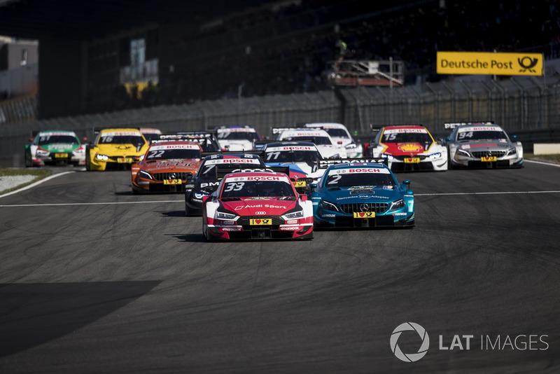 René Rast, Audi Sport Team Rosberg, Audi RS 5 DTM memimpin balapan