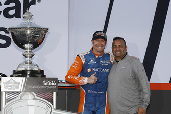 Scott Dixon, Chip Ganassi Racing Honda, Steve Williams de Verizon