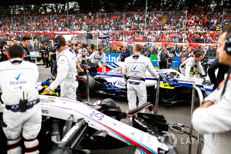 El equipo Williams en la grilla