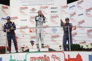Podio TCR Gara 1: Nicola Baldan, Pit Lane Competizioni, Salvatore Tavano, Eric Scalvini, BRC racing Team