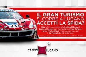 Simulatore Gran Turismo al Casinò Lugano, theaterplakat