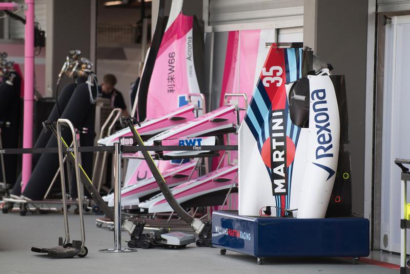 Des pièces de carrosserie de Williams FW41