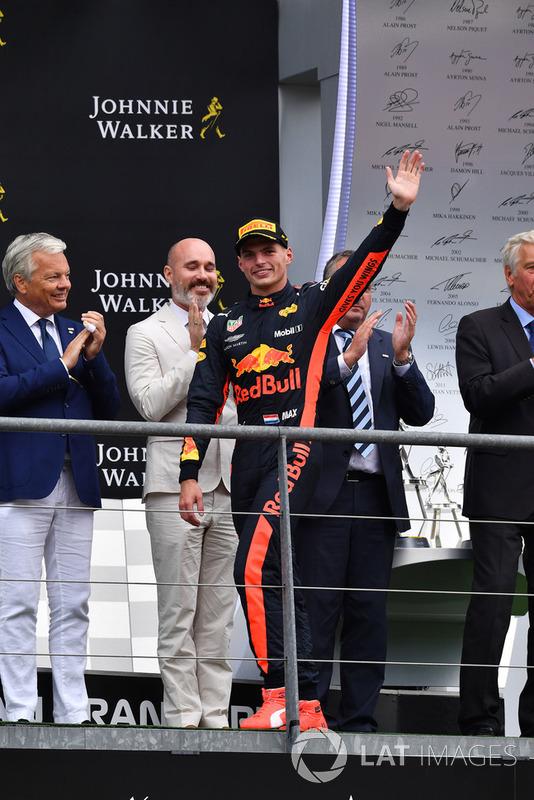 Max Verstappen, Red Bull Racing radość na podium