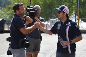 Sergio Perez, Force India et James Moy, Photographe