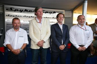 Mike Gascoyne, Victor Muller, Michiel Mol and Colin Kolles, Spyker MF1 Racing