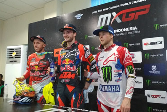 Tony Cairoli and Jeffrey Herlings KTM Factory Racing, Romain Febvre Yamaha Factory Racing